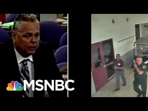 Analyzing Broward Deputy Scot Peterson's Response In Parkland Shooting Surveillance Video | MSNBC