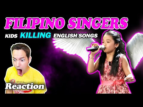 """PHILIPPINE KIDS NAILING ENGLISH SONGS"" - (Reaction)"