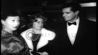 Hollywood Film Stars Doris Day John Gavin And Crew Arrive Premiere Hd Stock Footage