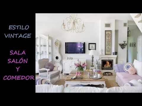 STYLE VINTAGE. ESTILO VINTAGE. DECORACION SALA SALON Y COMEDOR - YouTube