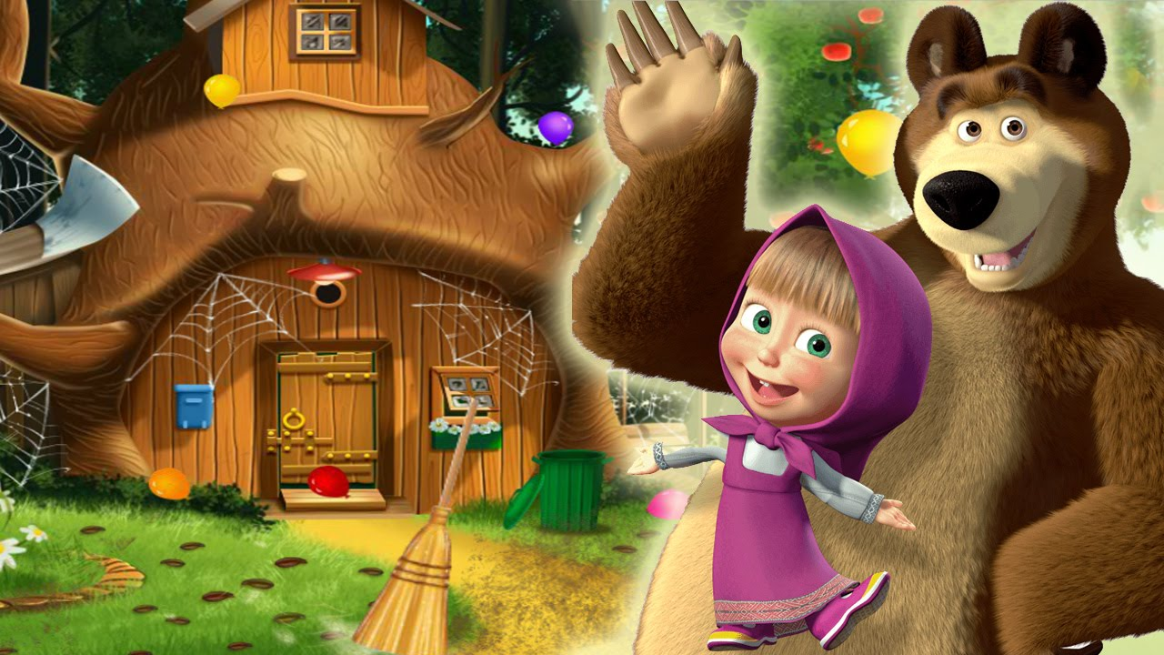 masha and the bear house decoration youtube. Black Bedroom Furniture Sets. Home Design Ideas