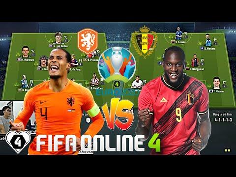 FIFA Online 4   CHUNG KẾT GIẢI ĐẤU EURO ĐẠI CHIẾN #1: Lukaku Đối Đầu Van Dijk Trong Kèo HÀ LAN Vs BỈ