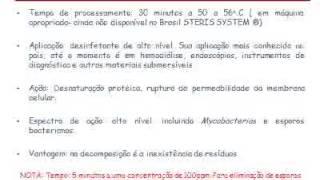 AULA DESINFECÇÃO E ESTERILIZAÇÃO DE PRODUTOS MÉDICOS