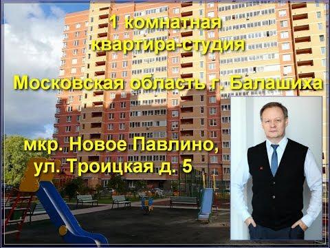 купить квартиру в Новое Павлино   Троицкая, дом 5   квартира в Балашихе   в Железнодорожном   Обзор
