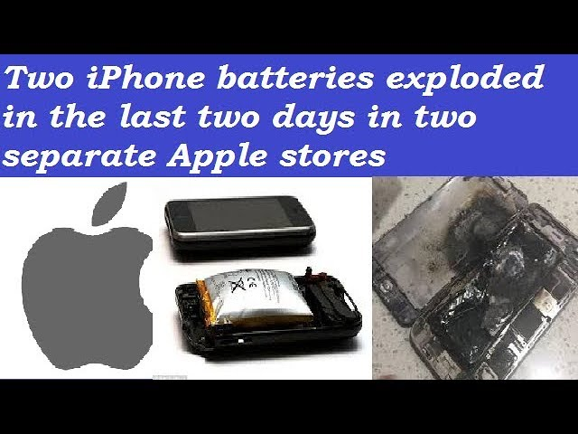 iPhone Batteries exploded