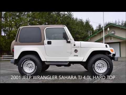 2001 JEEP WRANGLER SAHARA TJ HARD TOP 4.0L
