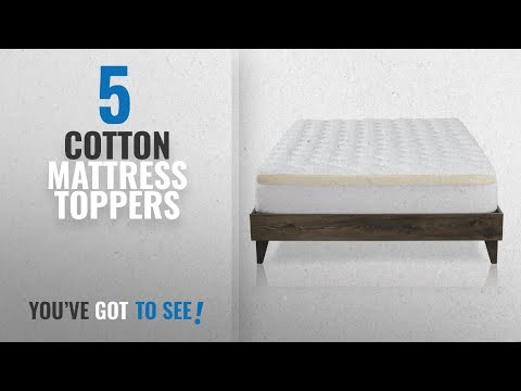 Top 10 Mattress Toppers Cotton [2018]: Mattress Pad with Fitted Skirt - Double Thick Extra Plush