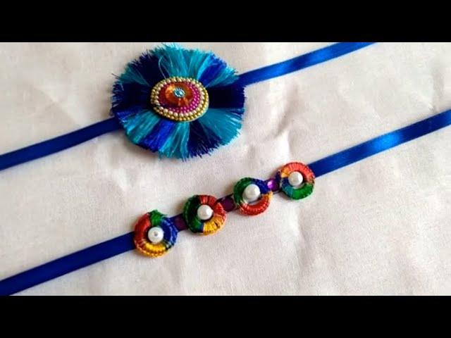 How to make Rakhi at Home // Resham thread Rakhi //Rakhi making ideas // Beautiful Rakhi at home