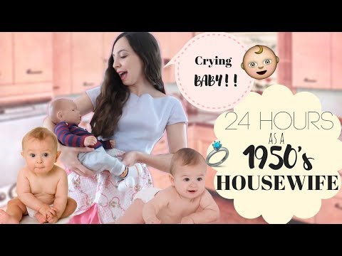 I Lived Like A 1950's House Wife WITH A BABY For 24 Hours