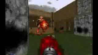 Doom Cyberdemon fight