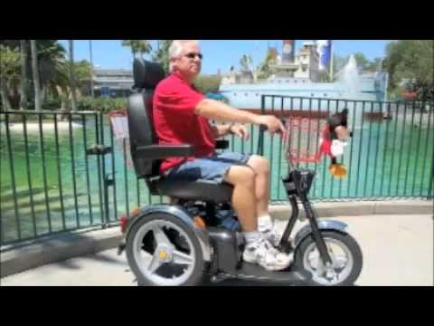Disney world mobility scooter rental youtube for Motorized scooter disney world