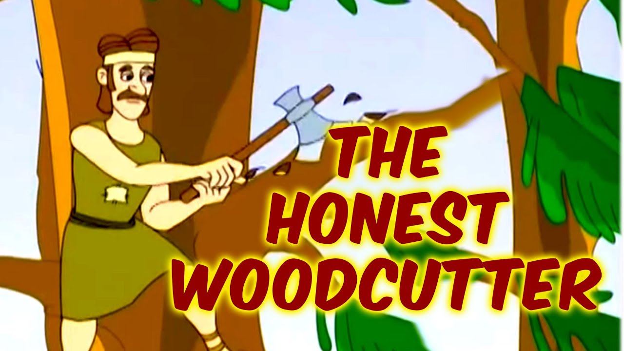 The Honest Woodcutter | Grandpa Stories | English Moral Stories For Kids