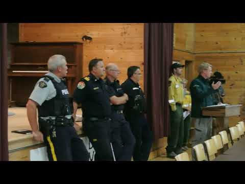 Sept 8, 2017 Kenow Fire Situation Update at Twin Butte Hall