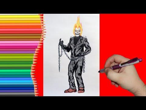 Как рисовать призрачного гонщика видео