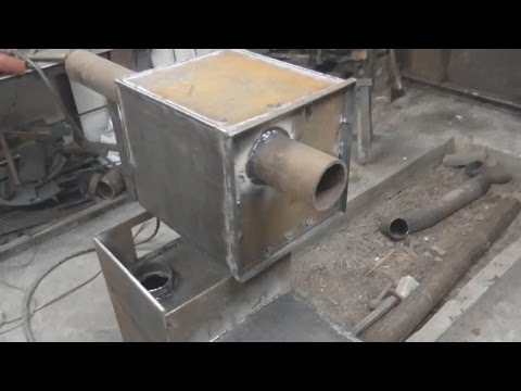 видео: печь для бани со съёмным баком, надёжная печь для бани