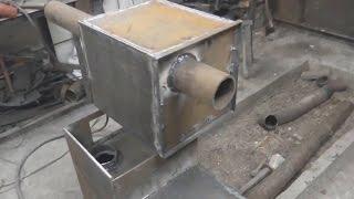 печь для бани со съёмным баком, надёжная печь для бани(Печь для бани из 8мм металла прослужит вам от 20-ти и более лет. Как сделать съёмный бак к печь для бани. Долго..., 2015-12-10T02:59:57.000Z)