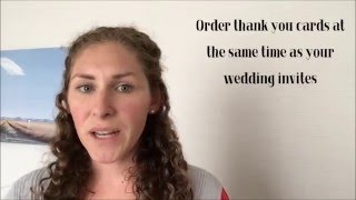 Tips on writing Thank You notes after your wedding