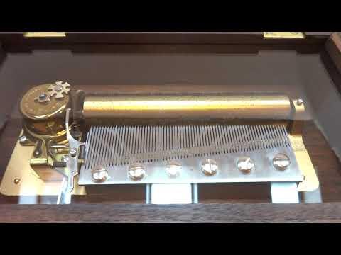 Vintage Reuge music box, Claire de Lune