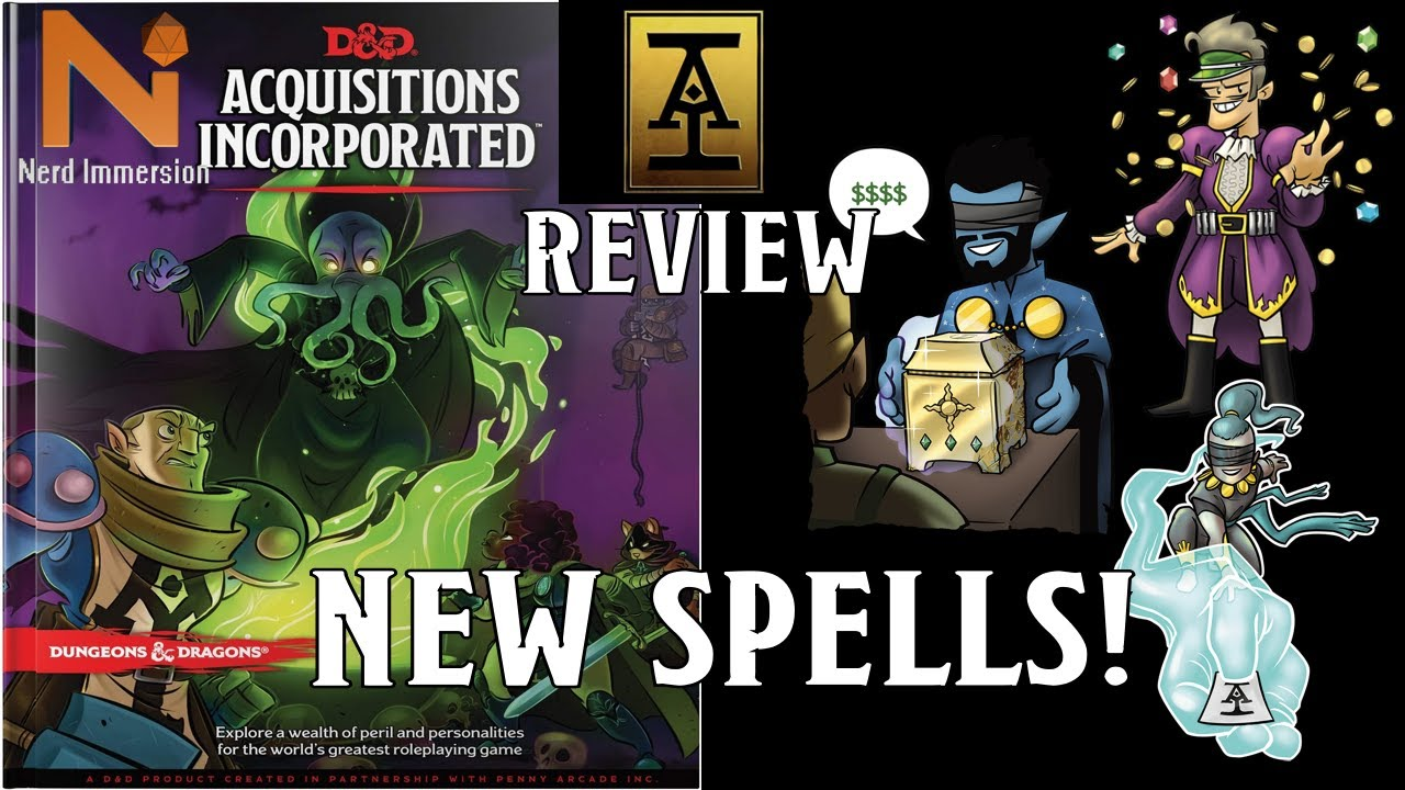 New D&D 5e Spells from Acquisitions Incorporated   Nerd Immersion