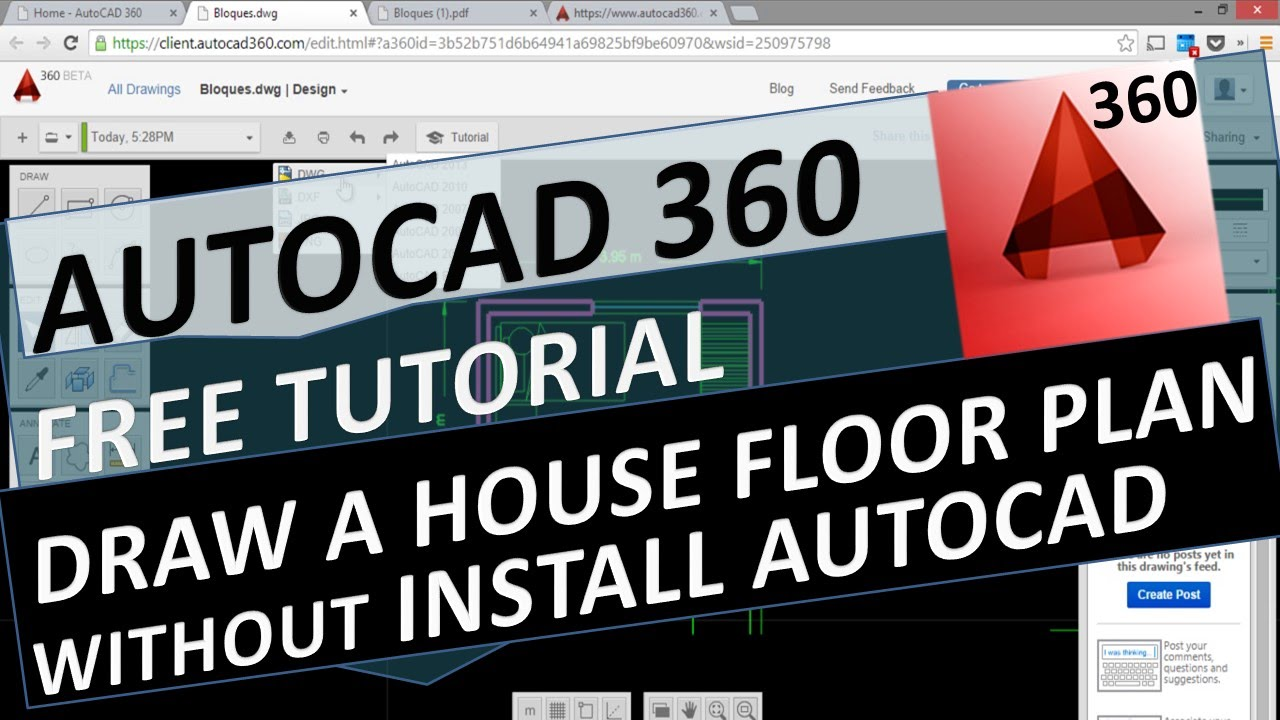 Open source autocad template, tutorial, Dwg file download, blocks.