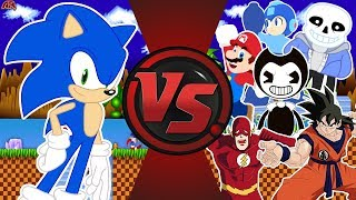 Download Sonic The Hedgehog vs The World! (Sonic vs Mario, Bendy, Sans, Goku, Flash, & More!) Sonic Animation Mp3 and Videos