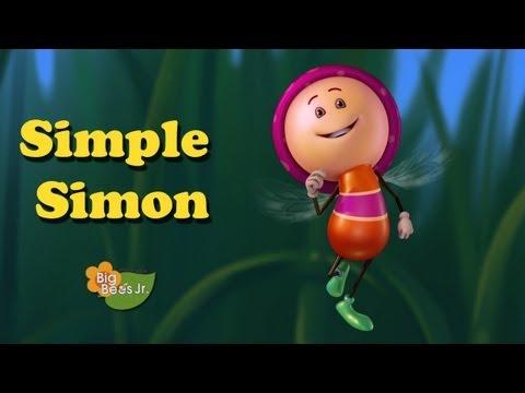 """SIMPLE SIMON"" NURSERY RHYMES ANIMATION BIG BEES JUNIOR HQ HD CHILDREN PRESCHOOL"
