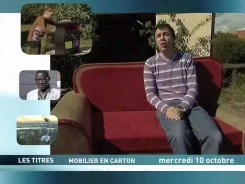 meuble en carton, reportage sur télé toulouse