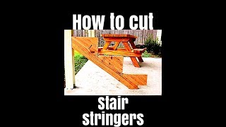 How to calculate and cut stair stringers