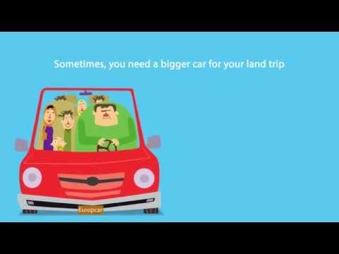 Europcar advertising animation on car rental in Iran
