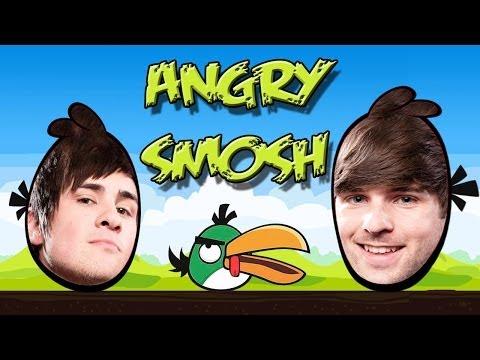 Angry Smosh(angry birds meet smosh)parody spoof video mashup