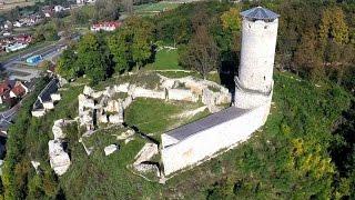 Zamek w Iłży z lotu ptaka