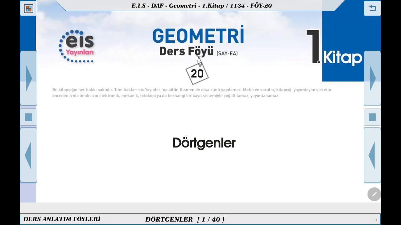 Geometri 1 - Dikdörtgen 1  ⏳