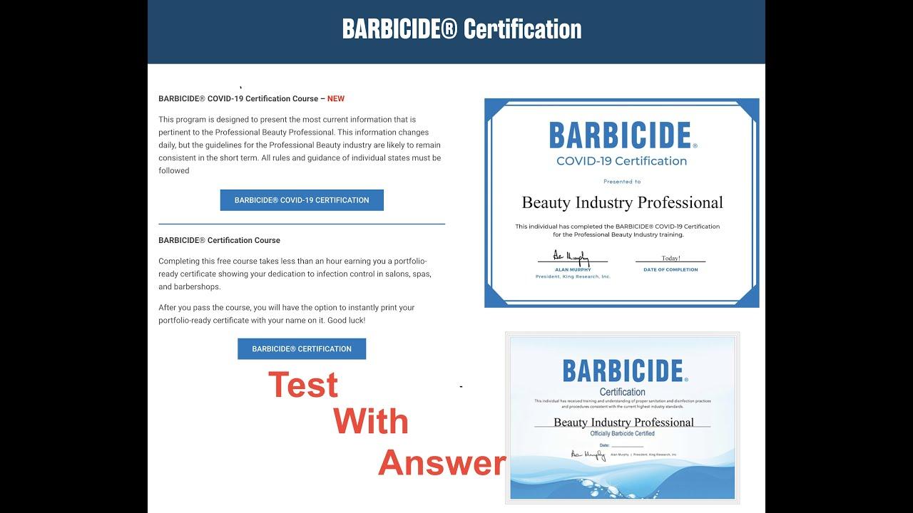 barbicide certification covid course