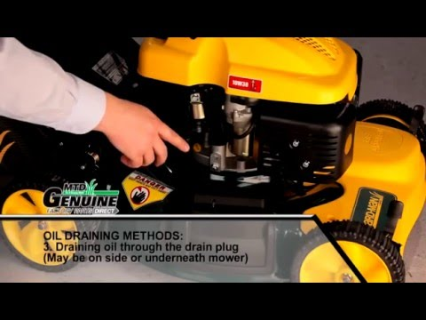 Walk Behind Lawn Mower Oil Change Instructions Youtube