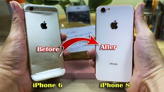 I Turn Destroyed iPhone 6 into an iPhone 8 | Restoration Broken Phone