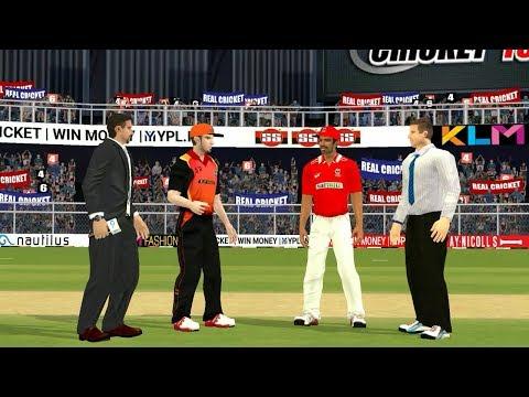 19th April IPL 11 Kings XI Punjab Vs Sunrisers Hyderabad Real cricket 2018 mobile Gameplay