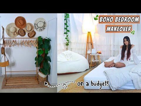 Extreme Room Transformation Minimal Boho Bedroom Tour 2020 Youtube