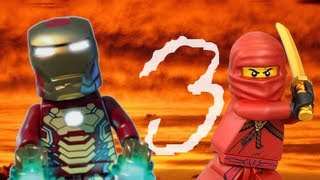 lego ninjago vs iron man 3