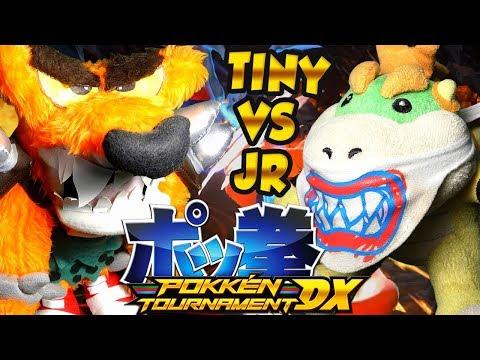 ABM: Tiny Tiger Vs Bowser Jr !! PokkenTournament Match !! ᴴᴰ