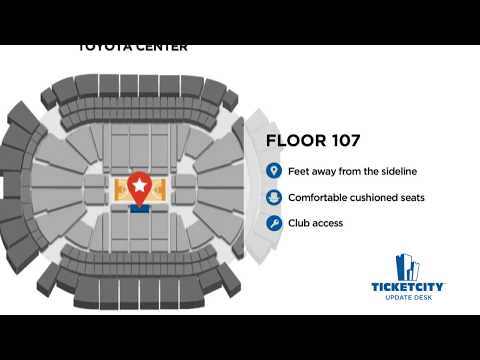Toyota Center Seat Recommendations - The TicketCity Update Desk