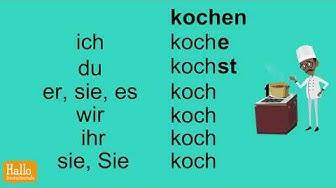 Deutsch lernen / Verben konjugieren