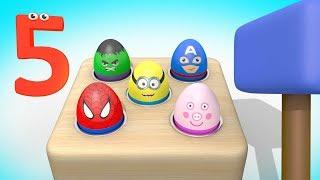УЧИМ ЦИФРЫ - Мультик про Яйца с Сюрпризом | Учимся считать от 1 до 10  | Обучающие Видео для Малышей