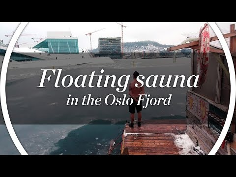 Floating sauna in the Oslo Fjord