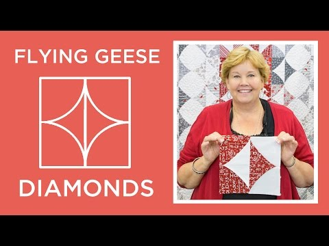 Make a Flying Geese Diamonds Quilt