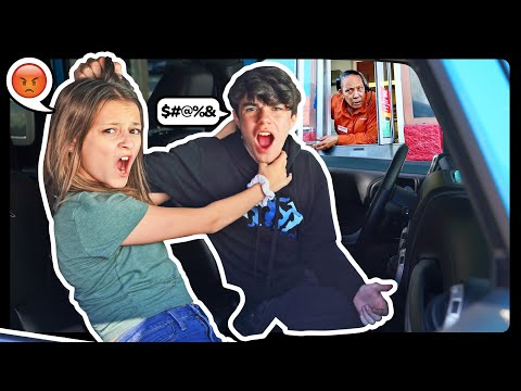 ARGUING In The DRIVE THRU'S To See People's REACTIONS Prank! **WE BROKE UP** ���� Sophie Fergi