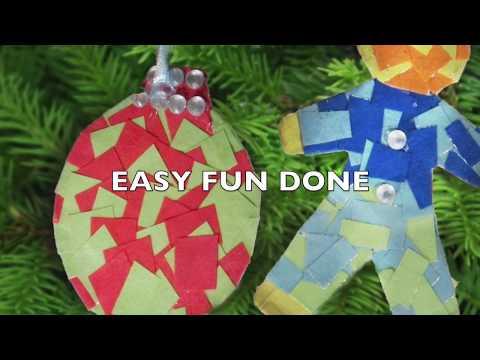 DIY Paper Christmas Tree Ornaments