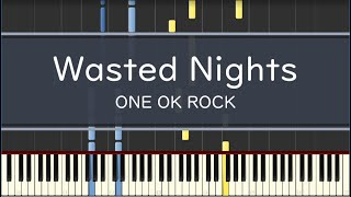 one ok rock「wasted nights」〈piano〉