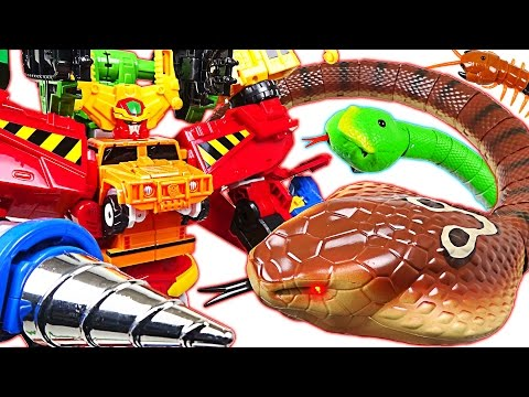 Thumbnail: King Cobra appeared! PJ Masks are dangerous! Carbot Hyperbuildian, Tobot help me! - DuDuPopTOY