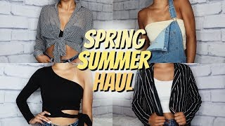 HUGE SPRING & SUMMER TRY-ON CLOTHING HAUL 2018 // fashion nova, princess polly, & more!