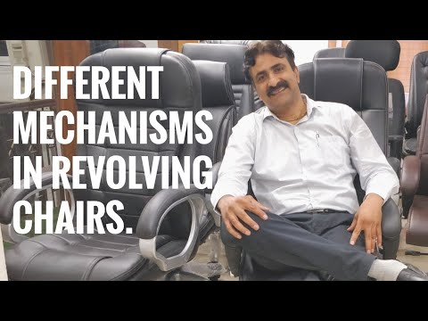 Office Chairs And Mechanism For Movements. Different Types Of Revolving Chair Mechanisms.